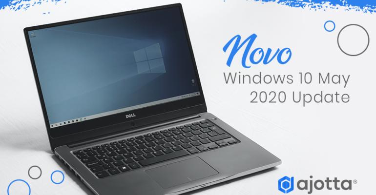 Novo Windows 10 may 2020 update